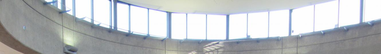The windows in the Rotunda of the SMATE Building
